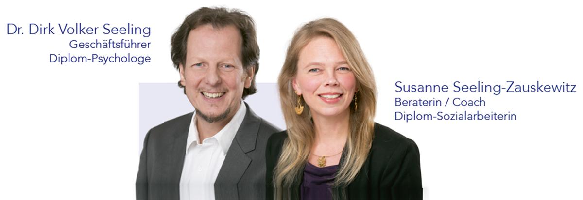 Bild von Dr. Dirk Volker Seeling (Geschäftsführer und Diplom-Psychologe) sowie Susanne Seeling-Zauskewitz (Beraterin und Coach).